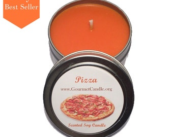 Pizza - Gift for Boyfriend - Soy Candle - Scent Candle - Husband Gift - Man Candle - Pizza Patch - Pizza Party Favor - Pizza Candle - Pizza