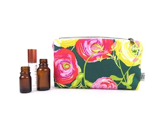 Essential Oil Case - Paradis Citrus - cosmetic bag zipper pouch essential oil bag READY TO SHIP
