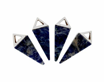Sodalite Point Pendant With Silver Plated Pyramid Cap QPC (S47B20)