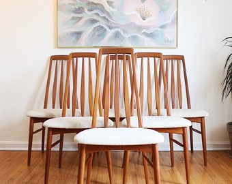 Mid Century Chairs Koefoeds Hornslet Eva Danish Dining Chairs Set of 6 SALE!