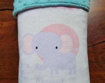 Minky Baby Blanket - Nursey Animals