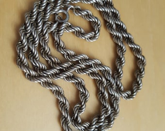 vintage 925 silver rope necklace