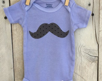0-3 Month Bodysuit with Mustache