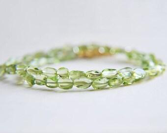 Peridot Necklace, Peridot Choker, Peridot Jewelry, August Birthstone, Birthstone Jewelry, Green Necklace, Short Necklace, Green Jewelry,Boho