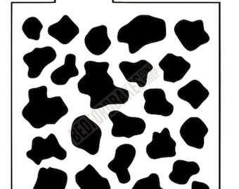 Cow Print Stencil / Cookie Stencil