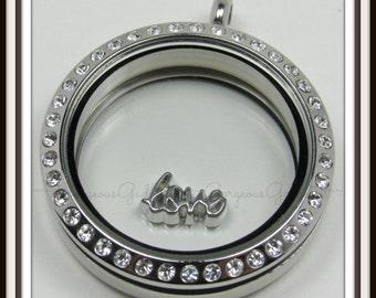 Love Floating Charm for Glass locket / Floating Locket / Memory Locket