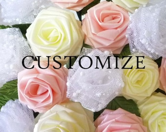 150 Single Origami Roses (Pick Your Colors / Made to Order), Origami Rose, Wedding Party Favors