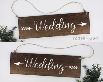 Wedding Arrow Sign Wedding Directional Sign Rustic Wedding Direction Signs Ceremony Directional Sign Wedding Direction Sign