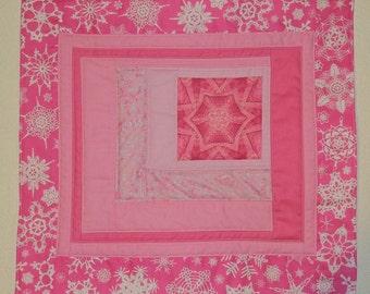 Snowflake Pink Pin Quilt