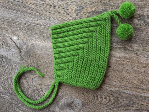 Stricke Elf Hut Baby Foto Prop grüne Kleidung Baby Hut elf