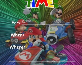 Mario Kart Digital Party Invitation, Digital Download, Printable, Super Mario Universe, Kid's Birthday