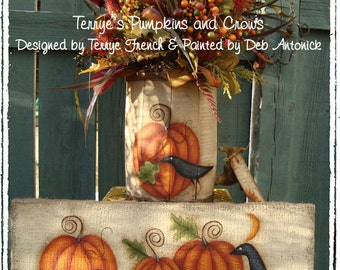 Terrye's Pumpkins and Crows by Deb Antonick, email pattern packet