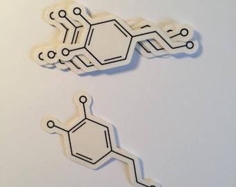 Dopamine Molecule - Vinyl Sticker