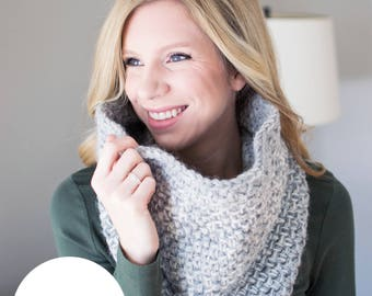 Crochet Pattern | The Snow Day Cowl | Crochet Cowl Pattern with Knit-Texture