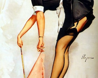 1950's Vintage Pin-Up Girl 11 Poster A3 / A2 Print