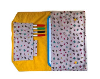 Dress handkerchief with yellow slate more MOP, back to school