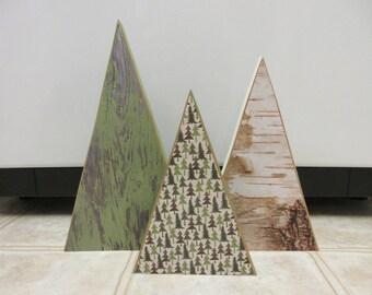 Christmas Decor-Wooden Christmas Trees-Christmas Tree Decor-Winter Decor-Cabin Decor-Rustic Christmas Decor-Rustic Christmas Tree Decor