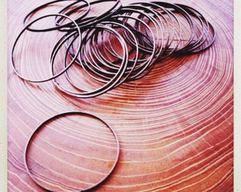 copper hoop links 30mm - 25 pieces  - destash