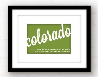 Colorado art | Colorado print | Colorado wall art | Colorado decor | Denver, Colorado