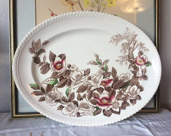 Windsor ware by Johnson Bros Floral Transferware Platter / Plate