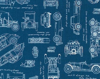 Aviation Fabric Vintage Blueprints Airplane Blueprint