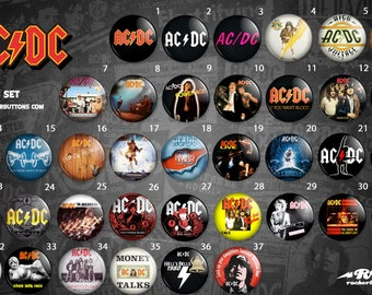 Collection sheets Ac dc / / Ac dc button collection