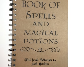 Book of Spells and Magical Potions, Notebook, Journal, , Spell Book