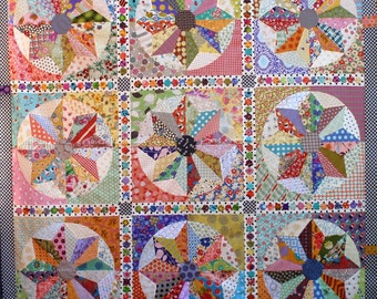 PDF of Scrappy Windmills quilt pattern
