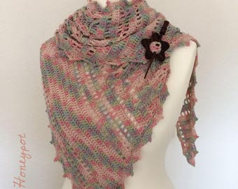 Hand made crochet shawl wrap