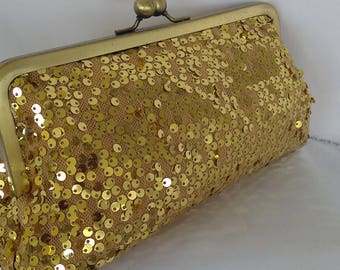 many colors ! gold sequin wedding new years eve holiday prom clutch purse BBsCustomClutches