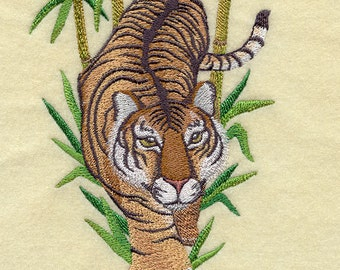 ASIAN TIGER of COURAGE- Machine Embroidery Quilt Block (Azeb)