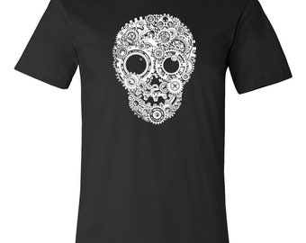 T-SHIRT KOMOA Mechanical skull (Black ou White)
