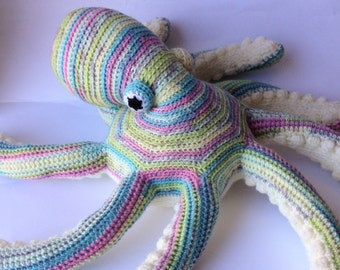 Crochet stuffed animal Frank Octopus