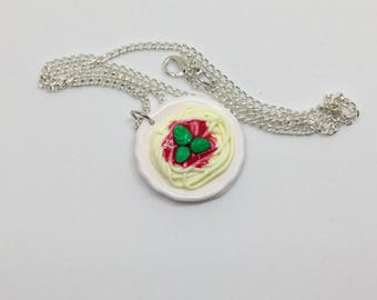 Spaghetti Necklace, Polymer Clay Necklace