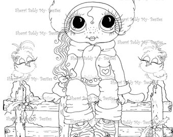 INSTANT DOWNLOAD Digi Stamps Big Eye Big Head Dolls Digi Bestie IMG100010 AB By Sherri Baldy