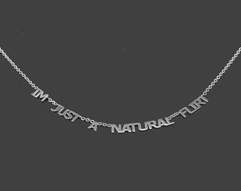 word Necklace ,Custom Word Necklace, Personalized Words Necklace 925 Sterling Silver - Custom Made Any Words