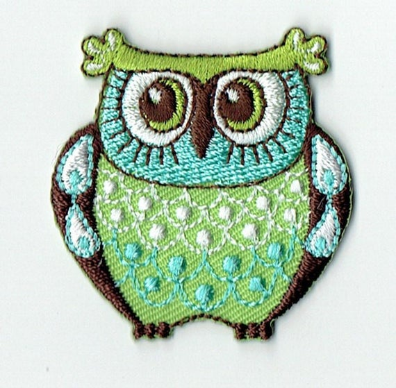 "Patch fusible trend ""Owls"" pattern"