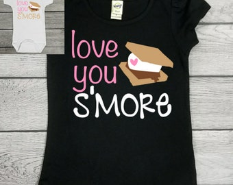 Smore Shirt - Girl Smore Shirt - Girl Summer Shirt - Girl Camping Shirt - Love you Smore