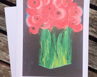Tall Poppies Note Card
