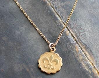 Dainty Fleur de Lis Necklace