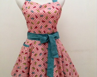 Cute apron|sweetheart apron|flirty apron| Kitchen apron|FREE SHIPPING