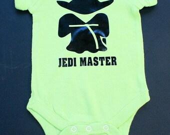 Bébé Body - maître Jedi - une seule pièce bébé Creeper - vert menthe