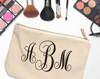 Personalized Makeup Bags - Bridesmaids Gifts - Personalized Makeup Bags for Bridesmaids - Monogram Makeup Case - Bridal Party Gifts