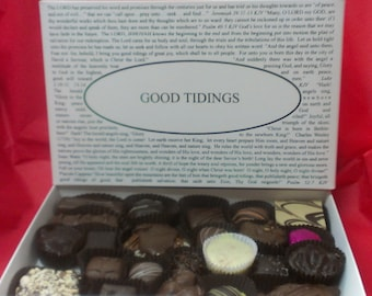 Chocolates with Good Tidings Box Lid. Or pick the title of your lid with over forty lids to choose from!