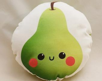 """Cute Pear 10"""" Cotton Pillow"""