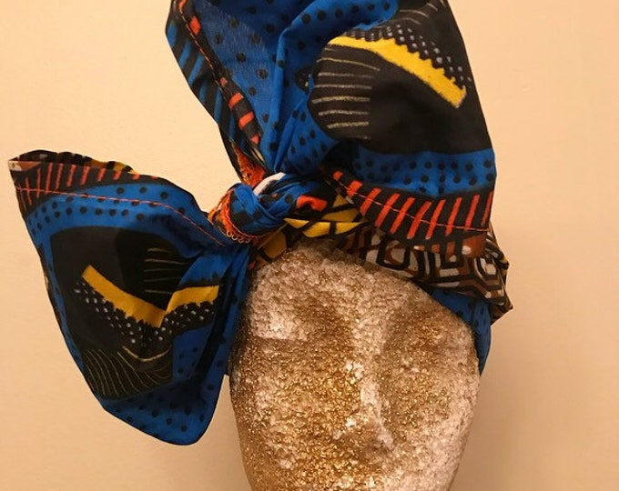 African Polka Dots Kuchena Half Head Wrap