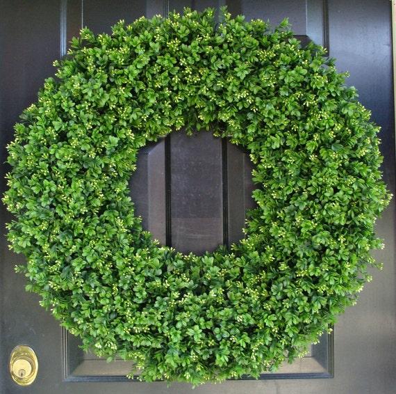 28 Inch XXL Artificial Boxwood Wreath, Oversized Wreath, Mantle Decor, Church Decor, Church Decoration, Wedding Wreath, Shabby Chic