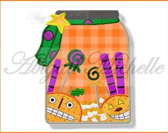 Halloween Treats Applique - 3 Sizes, Machine Embroidery