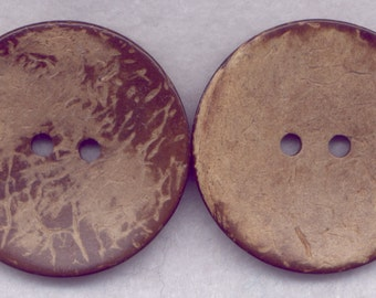 Brown Coconut Wood Buttons Wooden Buttons 42mm (1 3/4 inch) Set of 4/BT528