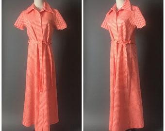 Vintage 60s coat / 1960s coat / vintage 60s robe / 1960s robe / herringbone coat  / maxi coat / 8259